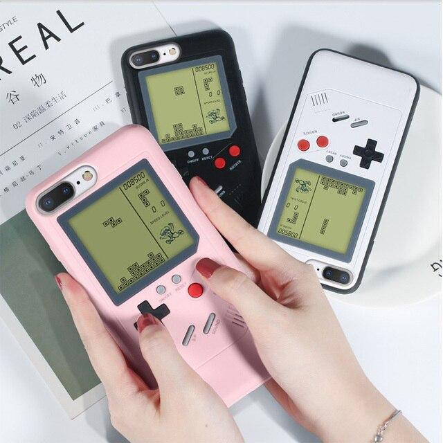 Ретро GB Gameboy тетрис телефонные чехлы для iPhone 6 6s 7 8 плюс мягкий ТПУ может играть Blokus игровой консоли чехол X XS XR Max