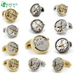 Lepton Functional Watch Movement Cufflinks fashion Watch designer cufflinks for men French shirt cuffs Cuff links Accessories