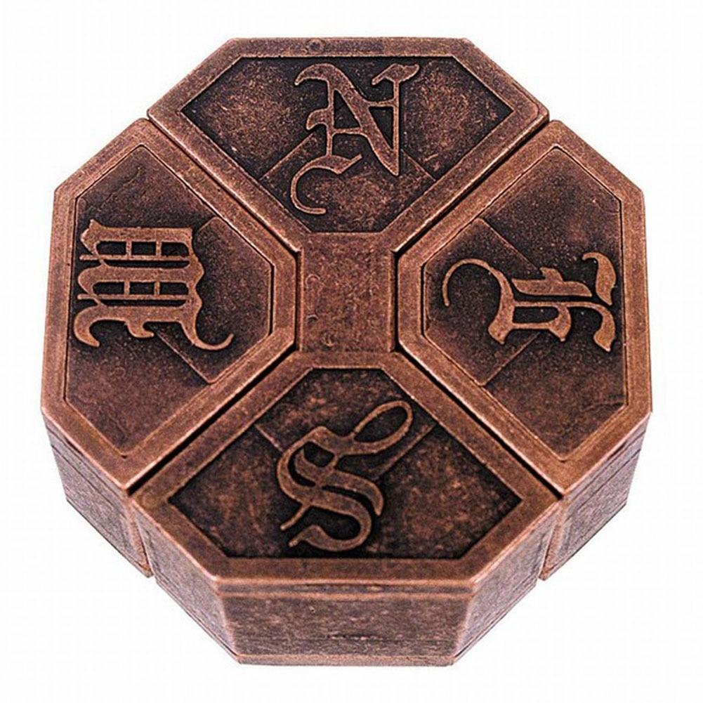 Magic IQ EQ Training Game Box Lock Vintage Metal Brain Teaser Box Lock Children School Educational Toy Magic Funny Game Mind #17