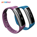 New Arrival Interpad Smart Electronics Smart Band Bluetooth Cicret Bracelet Pedometer Heart Rate Monitor OLED Smart Wristband