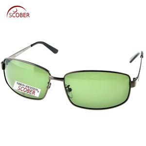 = SCOBER = Large Full Rim Masculine Men Designer Polarized Sunglasses Custom Made Nearsighted Minus Prescription Lenses -1 To -6