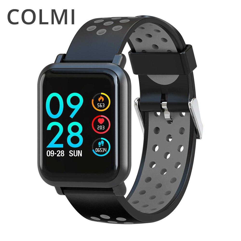 COLMI Smartwatch S9 2.5D Écran Gorilla Glass en oxygène du Sang Sang pression BORD IP68 Étanche Activité Tracker Montre Smart Watch