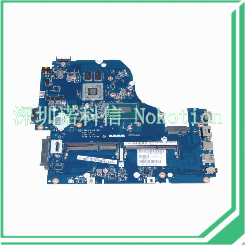 NOKOTION Z5WAH LA-B162P NBMLC11005 NB.MLC11.005 For acer aspire E1-572 laptop motherboard I7-4510U 840M