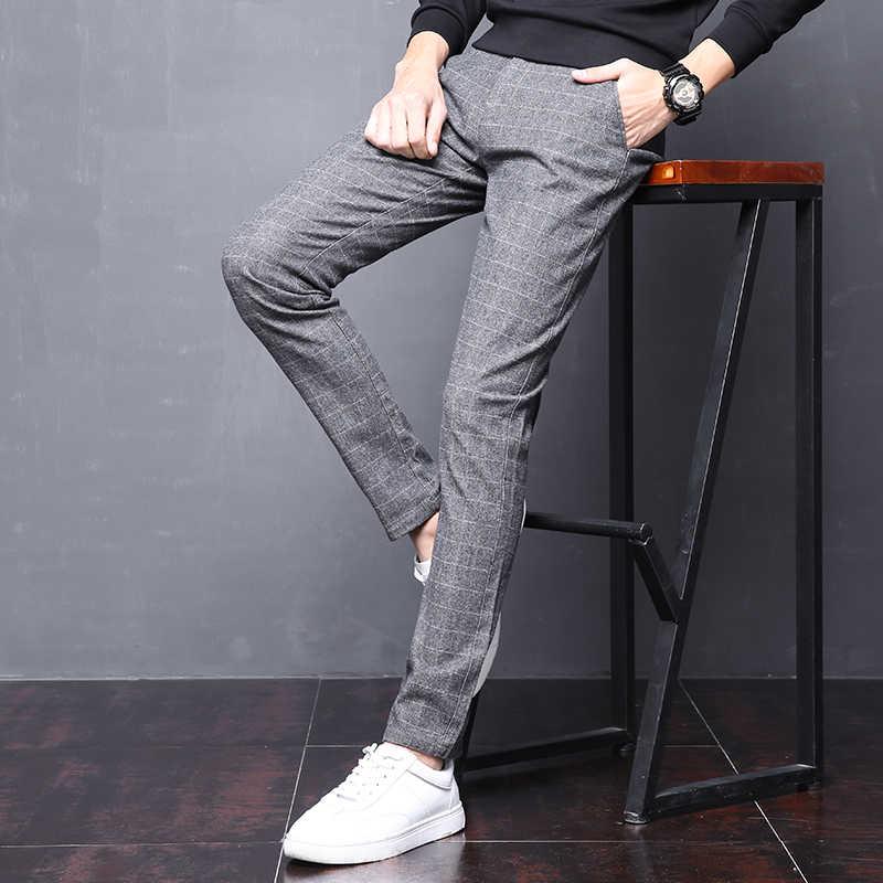 63036c6e9df4 ... Drizzte Mens Suit Pants Korean Casual Slacks Slim Fit Dress Pants for Men  Black Grey Business ...