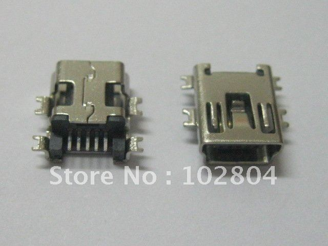 1000 шт. Мини 5Pin USB гнездовой разъем SMT тонущий пластинчатый Разъем Лидер продаж высокое качество