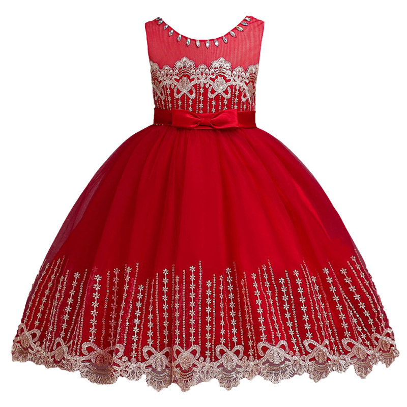 Flowers Girls Dress Wedding Princess Dresses For Girls Summer Children Clothes Girl Costume For Kids Vestidos 3 5 6 8 9 10 Years 2017 summer kids flower girls dresses for teenagers girl wedding ceremony party prom dress girls clothes for 3 4 5 6 7 8 9 years