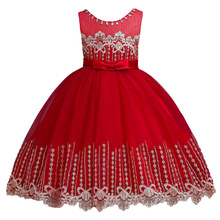Flowers Girls Dress Wedding Princess Dresses For Girls Summer Children Clothes Girl Costume For Kids Vestidos 3 5 6 8 9 10 Years