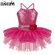 Iiniim/детские спортивные костюмы для лирических танцев, балетные гимнастические леотарды