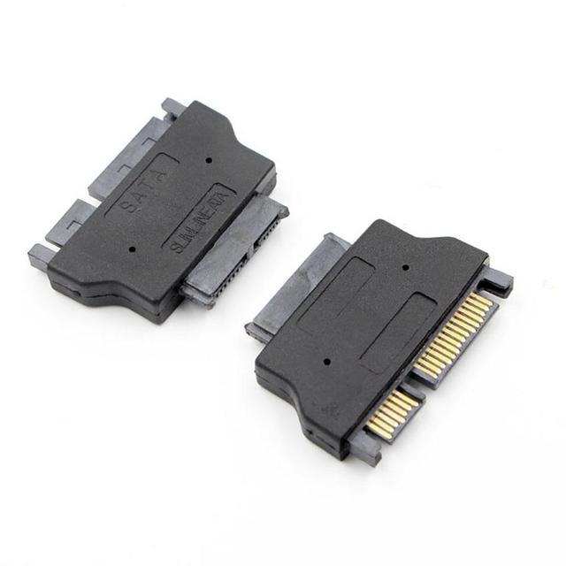 Adaptateur SATA Slimline série ATA 7 + 15 22pin mâle à Slim 7 + 6 13pin adaptateur femelle pour ordinateur portable HDD disque dur cd rom