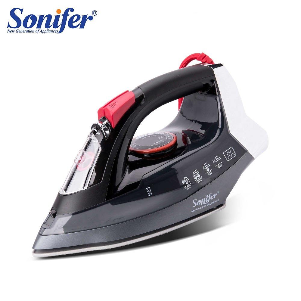 2200W Electric Irons Steam Flatiron For Clothes High Quality Multifunction Ceramic Soleplate Travel Iron Ironing Sonifer|Electric Irons| |  - title=