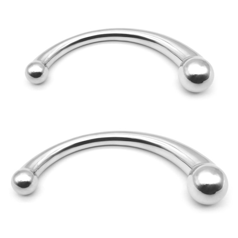 Double Ended Stainless Steel G Spot Wand Massage Stick Pure Metal Penis P-Spot Stimulator Anal Plug Dildo Sex Toy For Women Men