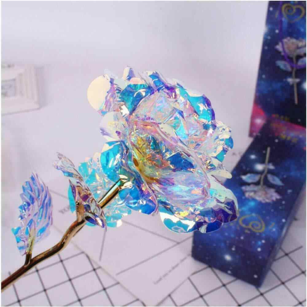 1PC Galaxy Rose with Love Base Rose Crystal Valentine Mother's Day Anniversary Gift Home Decoration Accessories