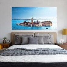 المشهد السرير رئيس جدار ملصقا ملصقات جدار الاطفال الأطفال غرفة نوم غرفة المعيشة السرير ديكور توهج الشارات غرفة الديكور
