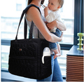 Black Wet Bag Stroller Handbag Baby Diaper Bags 4pcs Set Organizer Hospital Nursery Bags Buggy Bolso Maternidad Baby Bag For Mum