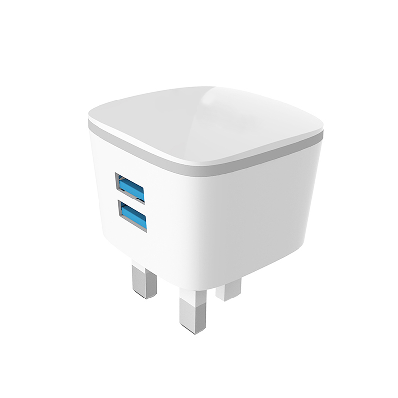 USB Charger UK Plug 5V 2.1A Dual Ports Travle Wall Charging Charger 2 Ports Universal Adapter Portable For Mobile Phone PLB103N