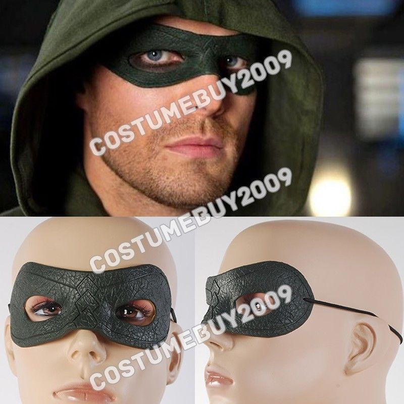 TV Show New Green Arrow Oliver Queen Eyes Mask Cosplay Prop