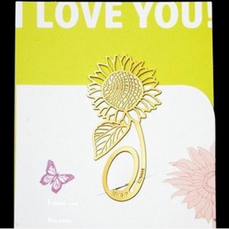 Bookmark Metal Sunflower Bookmark Sheet Metal Gift Souvenir Book Reading For Books