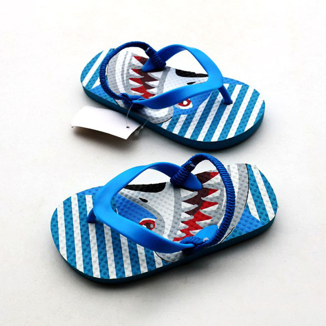 5a0cd5ac4097 Boys Sea Slipper Kids Beach Flip Flops Sandals for Boy Shark Slippers Kid  Water Shoes Children