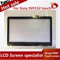 """НОВЫЙ 15.6 """"Ноутбук Замена Сенсорного Экрана Digitizer Стекло Для Sony VAIO SVF152 SVF152A29M SVF15212SN с рамкой"""