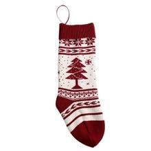 1 шт., рождественские носки с принтом снежной погоды, вязаные Чулочные изделия, подарочные носки с орнаментом в виде дерева, носки для вечеринок, поступление