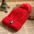 1PC Women Lady Wool Crochet Knitted Cap Winter Warm Pompom Beanie Large Ball Bobble Ski Skull Hat
