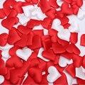 Barato! 100 unids Tela Corazón dia 3.5x3.5 cm/2x1.5 cm Del Banquete de Boda Del Confeti de la Tabla de La Decoración de cumpleaños Suministros de Decoración del partido