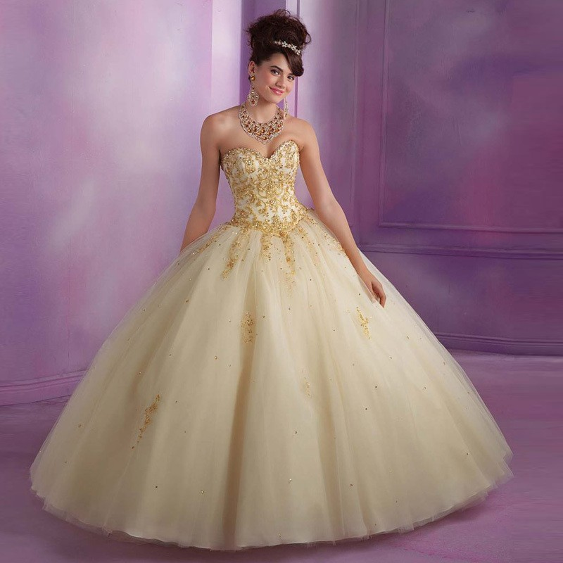 Popular Quinceanera Dresses Red And Gold-Buy Cheap
