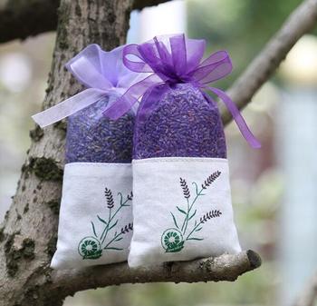 100 szt Lawendowy brązowy kwiat worek czystej bawełny przędza szyfrująca dwustronna drukowana lawendowa saszetka tanie i dobre opinie Lavender brown flower bag Przyprawy Farbric