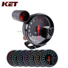 KET 5 Inch Car RPM 11000K Tachometer Gauge digital  7Color Backlight LED Shift Light rpm meter for 1-10 cylinder engine vehicles