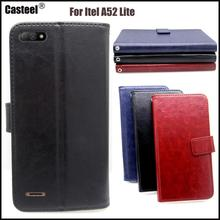 Casteel Classic Flight Series high quality PU skin leather case For Itel A52 Lite Case Cover Shield