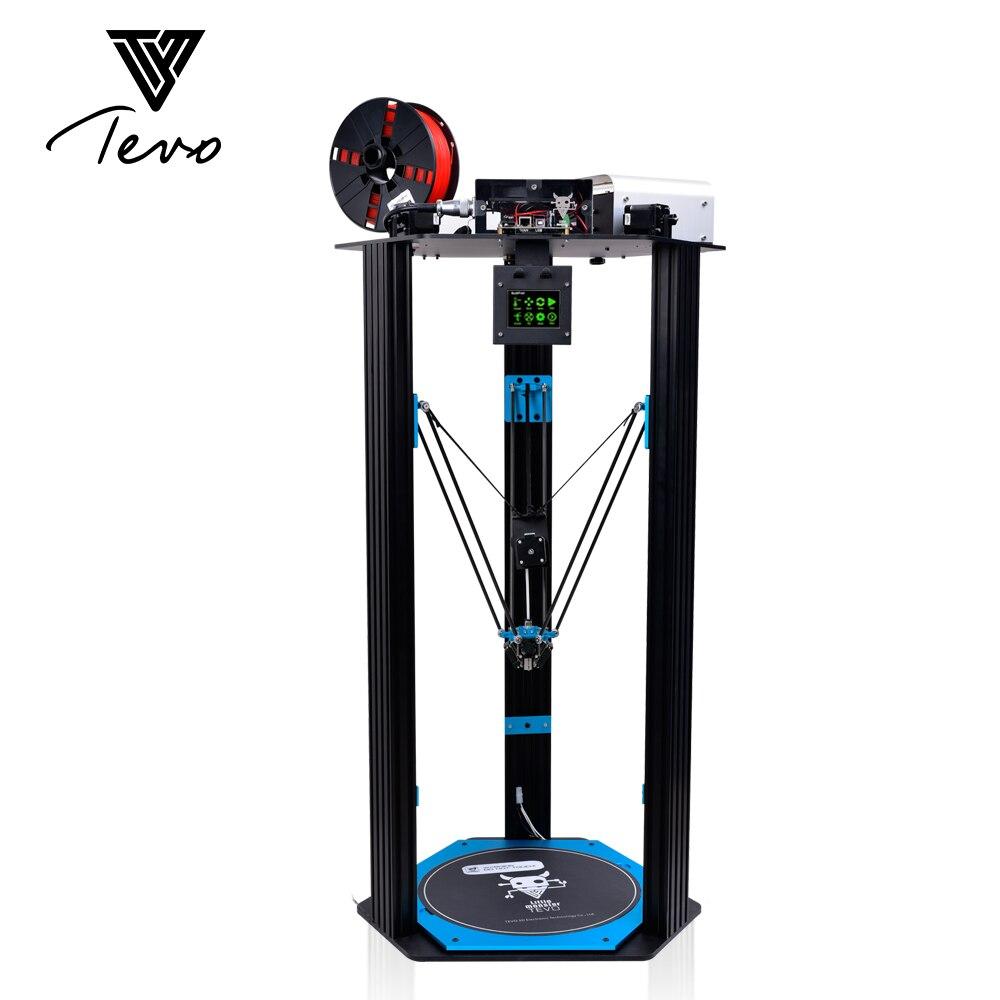 Más nuevo pequeño monstruo de TEVO Delta 3D impresora TEVO Deltal Cama grande Srong extrusión/Smoothieware/MKS TFT28/Bltouch 3D impresora SD