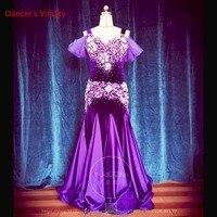 2019 New Professional Custom Made 12 colors Belly Dance Women Dress Luxury Diamond Velvet Belly Dance Sleeveless Dress