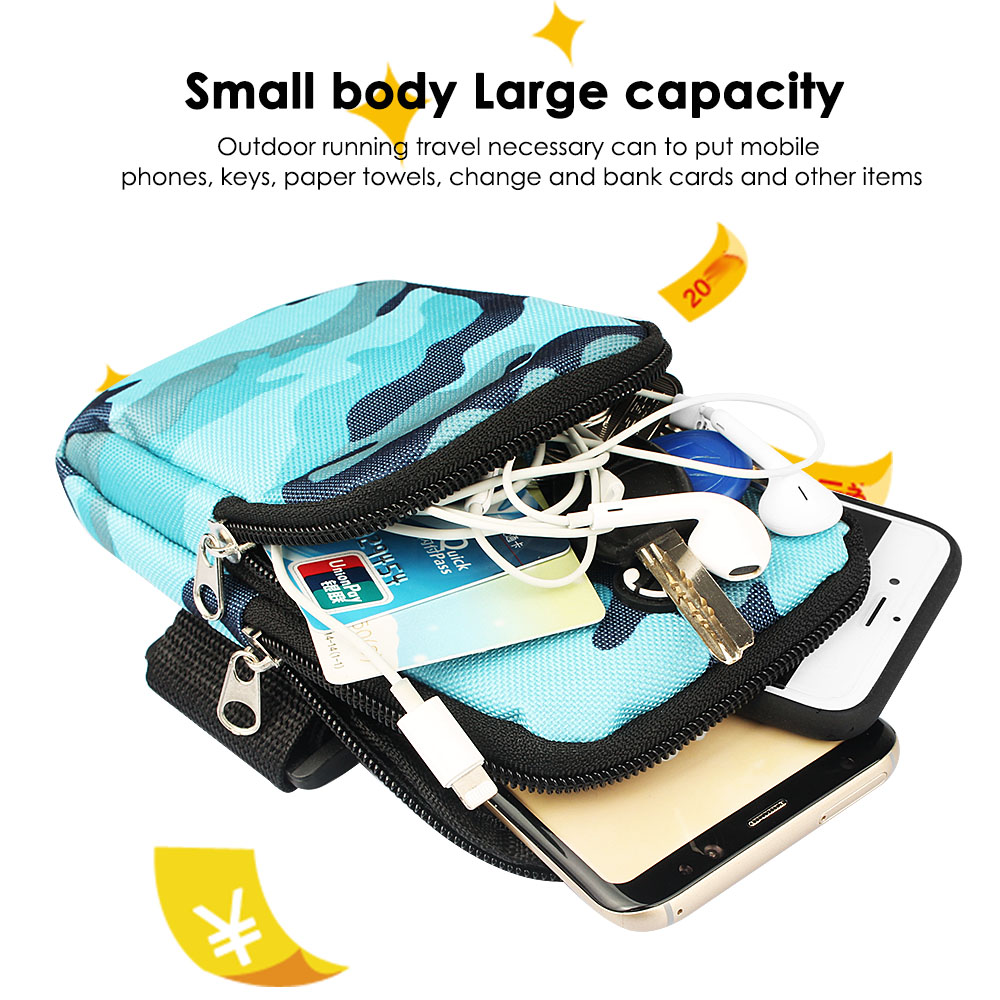 Sport Armband Running Flip Bag Case For Iphone Samsung Universal 5.5inch Smartphone Earphone Holes Keys Arm Bags Pouch Cellphones & Telecommunications