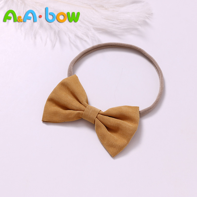 1pcs Baby Bow Nylon Headbands Party Hair Bands Newborn Girls Headwear Cute Soft Cotton Bow Hair Accessories Wholesales