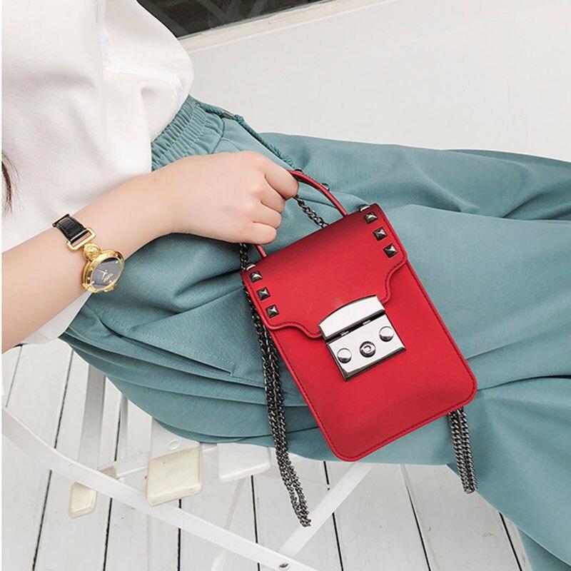 4PCS LOT Women Handbags Chain Mini Women Messenger Bag Candy Color Women Shoulder Bag Party Lock Purse Sac in Top Handle Bags from Luggage Bags