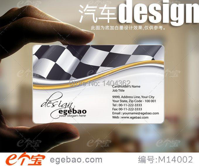 Customized business card printing Plastic transparent /White ink PVC Business Card one faced printing 500 Pcs/lot NO.2113