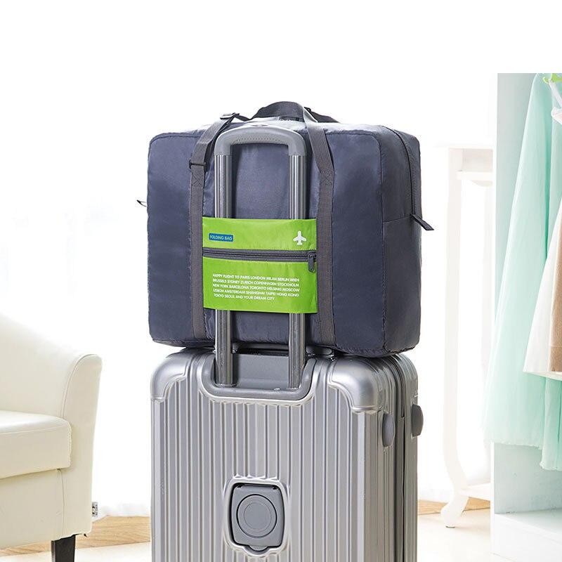 ecc4705d5615 Casual Fashion Women Travel Bags Nylon Waterproof Zipper Weekend Travel  Portable Bag Luggage Duffel Bags sac de voyage