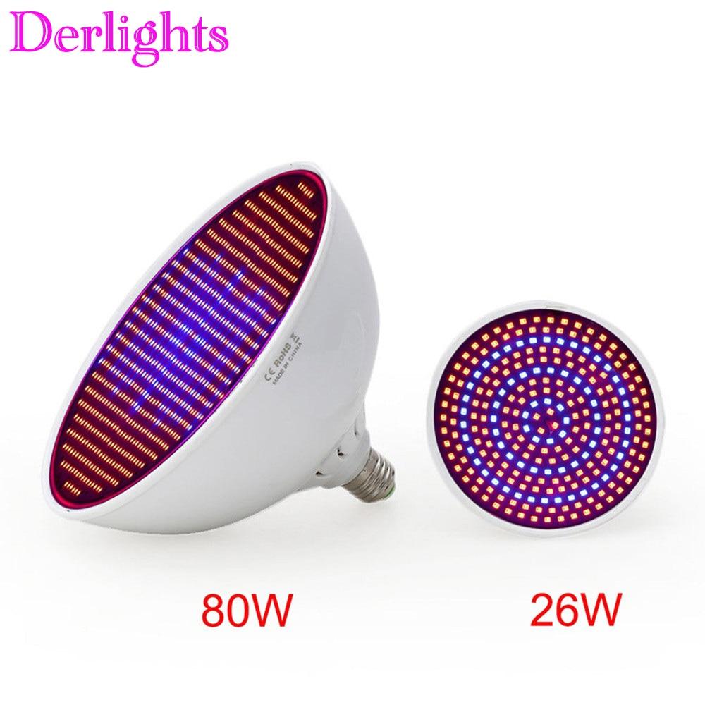 80W/ 26W Led Grow Light  AC85-265V E27 Red/Blue  800 Leds Hydroponic LED Plant Indor Grow Lights LED Bulb LED Growth Lamp