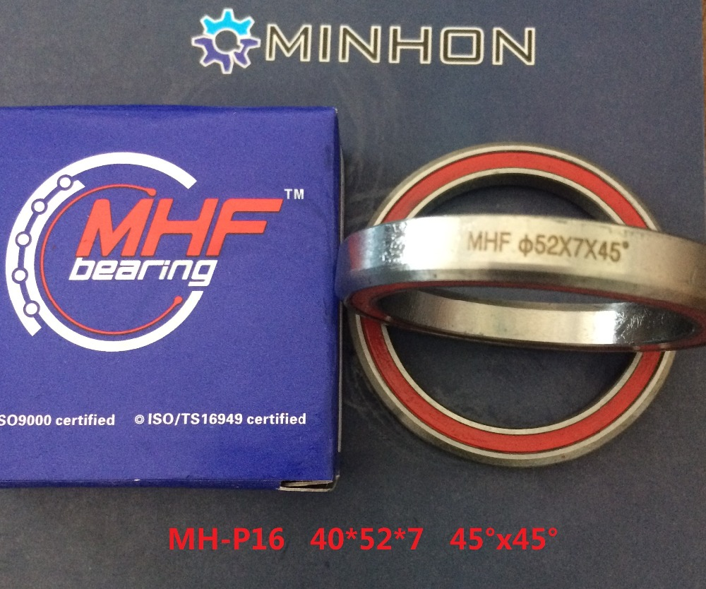Free Shipping 2PCS per lot MHF Bicycle headset Angular Contact Bearings MH-P16 40*52*7 Best and Lowest Price High Performance 1pcs 71901 71901cd p4 7901 12x24x6 mochu thin walled miniature angular contact bearings speed spindle bearings cnc abec 7