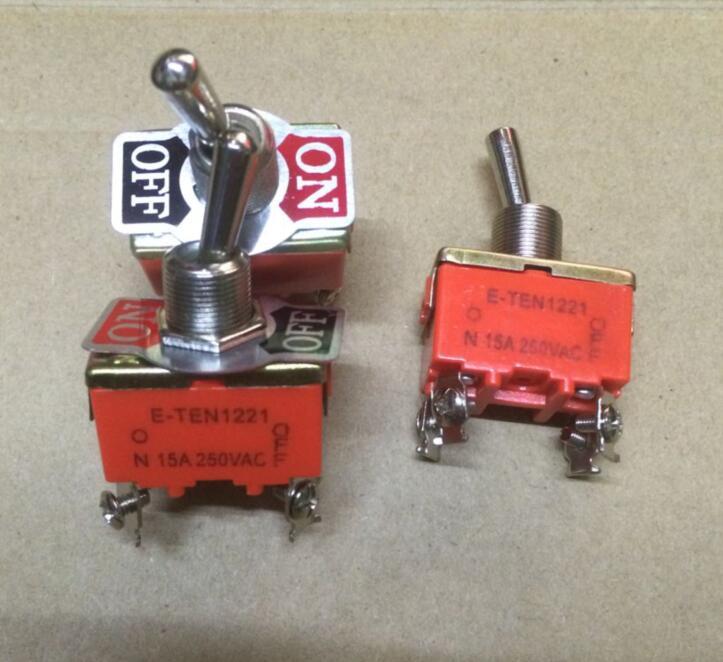 50 sztuk/partia E TEN1221 zasilania przełącznik Rocker 15A/250VAC on off 4Pin w Przełączniki od Lampy i oświetlenie na AliExpress - 11.11_Double 11Singles' Day 1