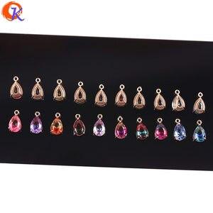 Image 2 - Cordial Design 50 sztuk 7*13MM biżuteria akcesoria/Hand Made/DIY Making/upuść kształt/Charms biżuteria/kryształ wisiorek/kolczyki ustalenia