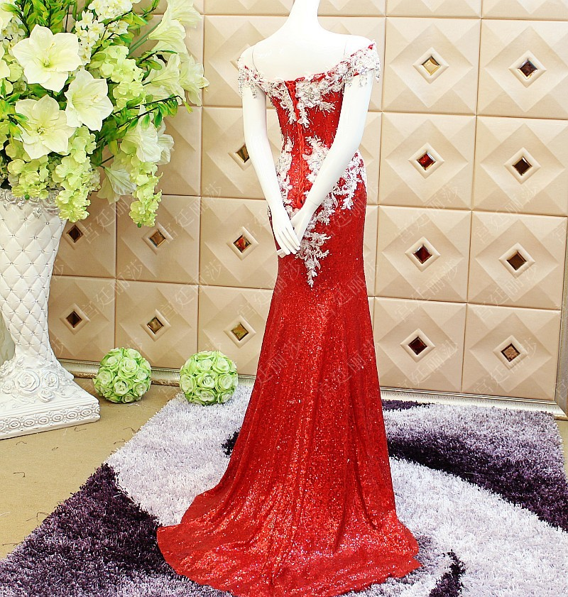 Custom appliques 2018 New Design mermaid Luxury Crystal Evening robe de soiree Long Lace prom Gown mother of the bride dresses in Mother of the Bride Dresses from Weddings Events
