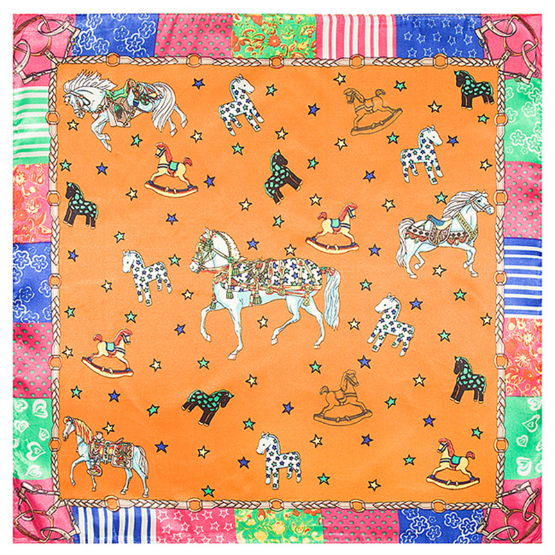 aliexpresscom buy 60x60 horse silk square scarf brand bright color head scarf neck cooler foulard new 2016 from reliable scarf pieces suppliers on miss - Foulard Color