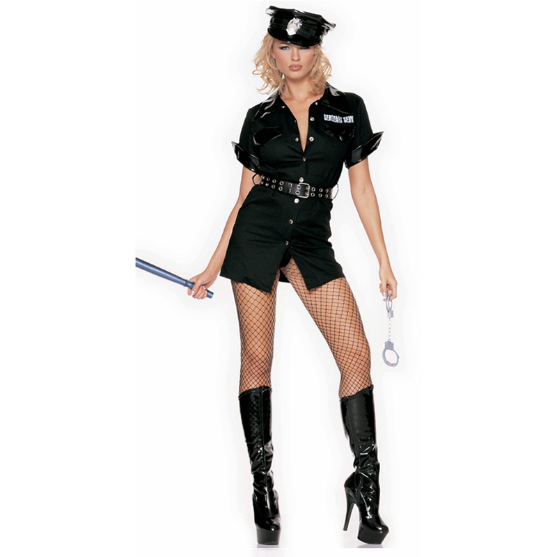 Sexy Female Cop Royalty Free Vector Image