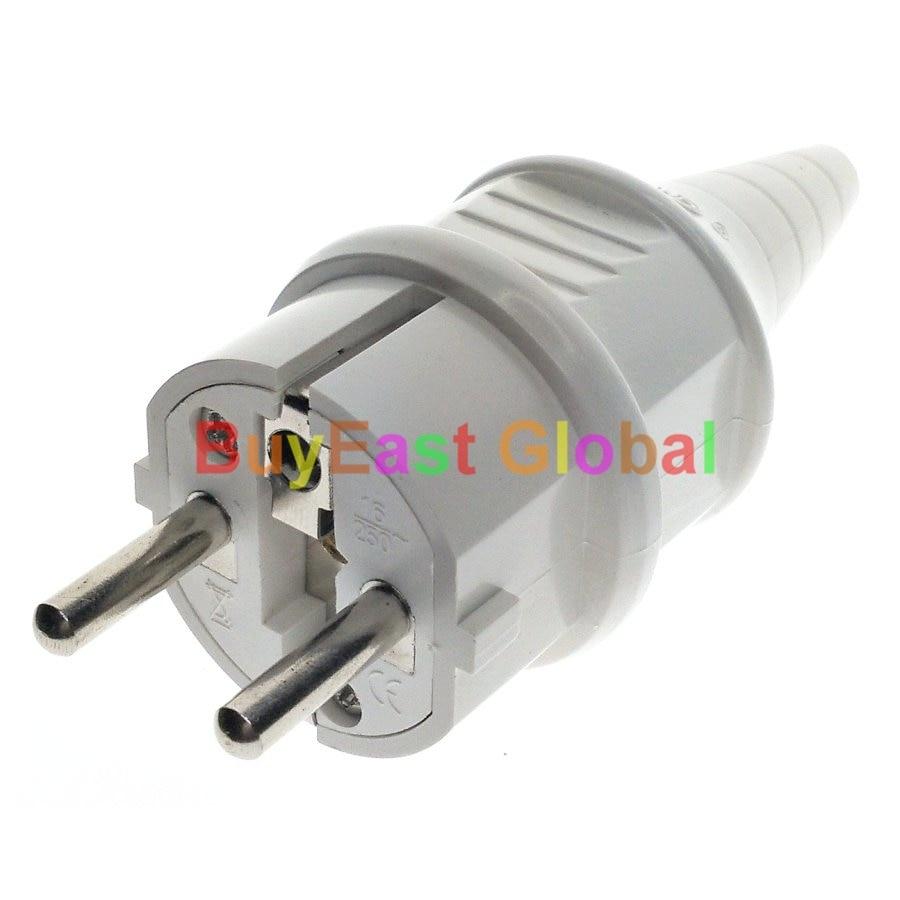 (1 Stück) Schuko Deutsch Französisch Typ F Europäischen 4,8mm Pin-dosen Ac Power Stecker Ac100 ~ 250 V 16a Weiß Farbe In Vielen Stilen