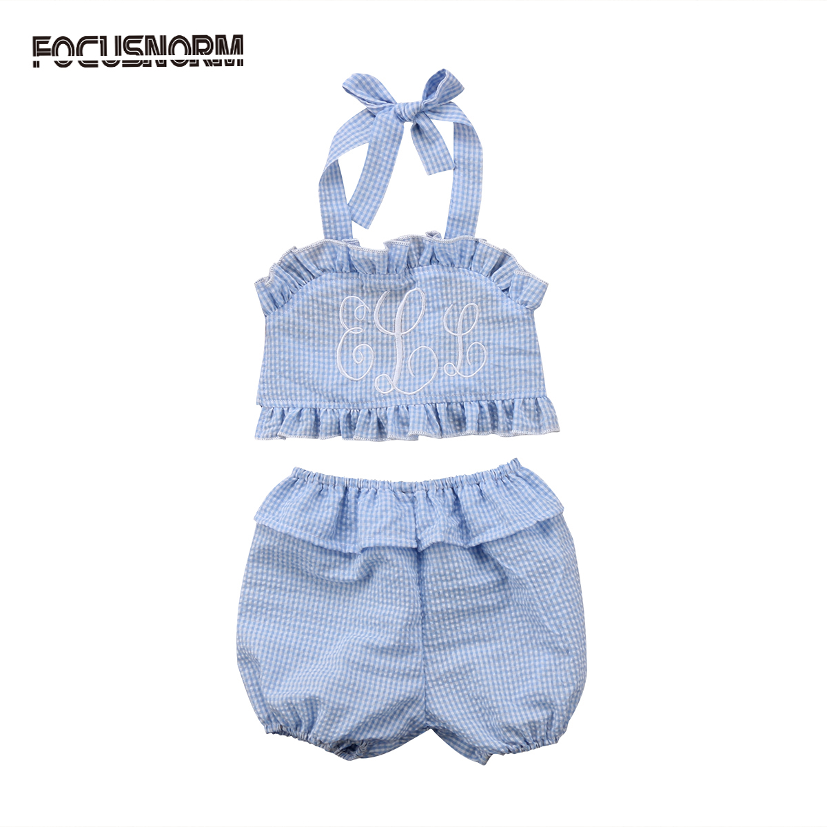 Baby Girls Kids Two Piece Sleeveless Summer Clothes Sets Toddler ...