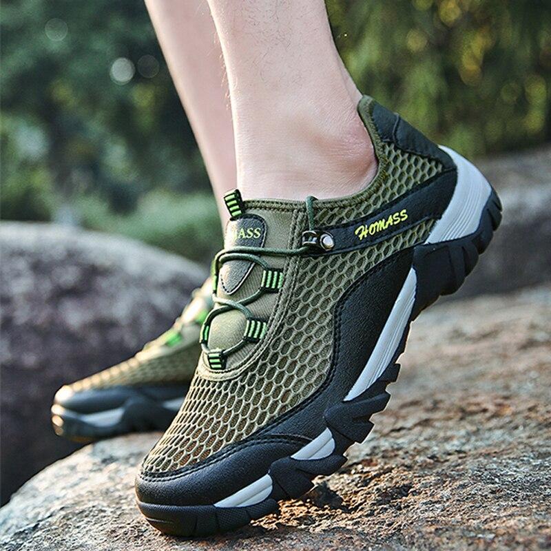 גברים סנדלי 2018 חדש קיץ באיכות גבוהה לנשימה סנדלים מזדמנים גברים שטוח קיץ רשת נעליים בתוספת גודל 45