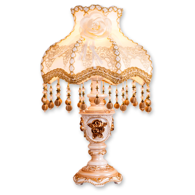 European-style lamp luxury bedroom bedside lamp table light creative wedding garden Princess fashion wedding gift desk lamp crystal lamp bedroom bedside lamp decoration lamp european creative wedding marriage room warm rose wedding gift table lamp