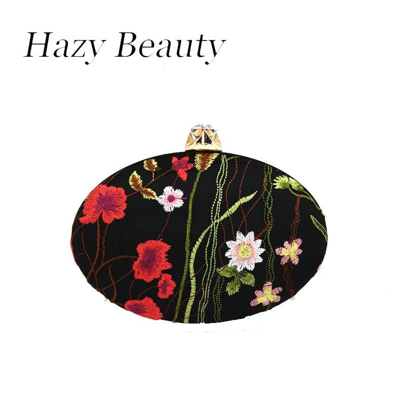 Hazy beauty embroidery flora women chic evening bag super chic lady cross body chain handbag loved design shoulder bag hot A307 lipstick chain cross body bag