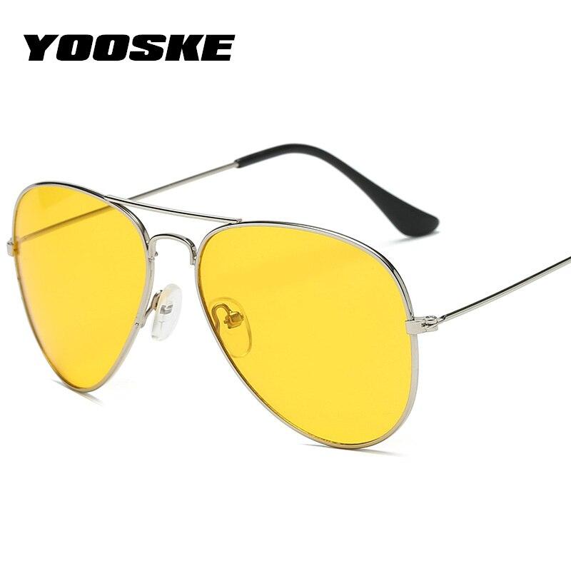 YOOSKE Night Vision Occhiali Da Sole Uomo Donna Retro Scuro Driving Occhiali Da Sole Conducente Maschio Occhiali Di Sicurezza UV400